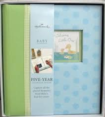 baby boy memory book hallmark baby bba3880 welcome one 5 year