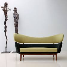 Scandinavian Design Sofa  Wool  Teak  Walnut BAKER ONE - Sofa scandinavian design