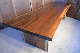Slab Dining Table by Handmade Reclaimed Wood Slab Dining Tables Dumond U0027s Furniture