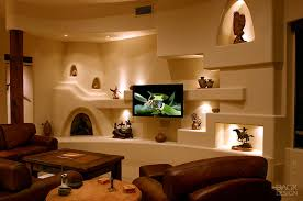 i like the little corner fireplace southwest living pinterest