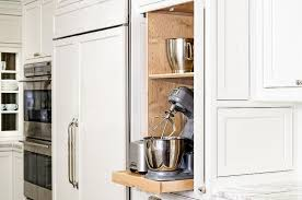Kitchen Cabinet Features Kitchen Cabinet With Pocket Doors And Pull Out Small Appliances