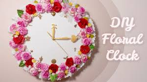 Small Decorative Wall Clocks Diy Floral Wall Clock Room Decor Idea I Wear A Bow Youtube