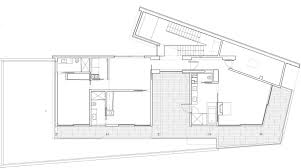 first floor plan mandeville canyon residence in los angeles by