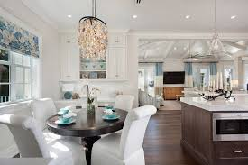Oyster Chandelier Florida Home With Elegant Coastal Interiors Wanted One Magazine
