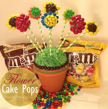 cake pop bouquet baking with m m s flower cake pops bouquet
