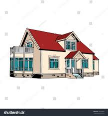 two storey house suburban twostorey house stock vector 365799854 shutterstock