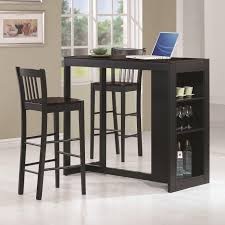 pub table and chairs with storage 54 dark wood pub table sets bar height tables dining room set