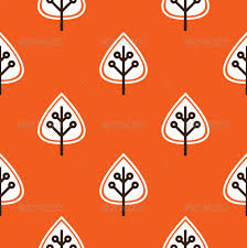 thanksgiving seamless pattern with leaves by beeandglow