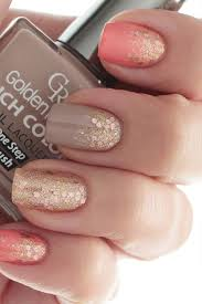 35 gorgeous fall nail art ideas autumn nook and gold glitter nails