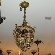 Spanish Revival Chandelier Spanish Revival 3 Light Flower Basket Pendant From