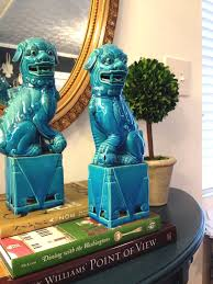 blue foo dogs friday favorites faux flowers and foo dogs host and serve