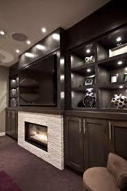 big screen tv cabinets contemporary media room big screen tv fireplace maple cabinets