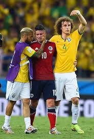 David Luiz Meme - james rodriguez and david luiz photos photos brazil v colombia