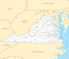 Virginia State Parks Map Virginia Map Blank Political Virginia Map With Cities