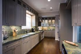Grey Kitchen With Granite Top Eclectic Kitchen Houston By - Brookhaven kitchen cabinets reviews