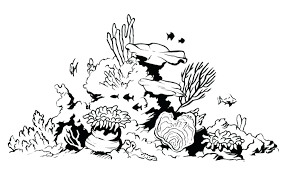 thanksgiving reefs coral reef coloring pictures great barrier pages throughout page