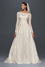 the wedding dress the shoulder lace a line wedding dress david s bridal