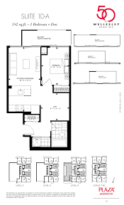 floor plans toronto 50 wellesley condos toronto floor plans plaza corp