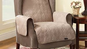 Slipcover For Barrel Chair Furniture Wingback Chair Slipcover Lazy Boy Recliner Covers