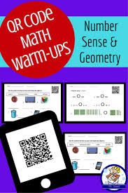qr code math warm up pack 1 number sense and geometry each day