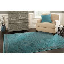 Blue Ombre Area Rug by Shop Allen Roth Belsburg Rectangular Aqua Transitional Woven