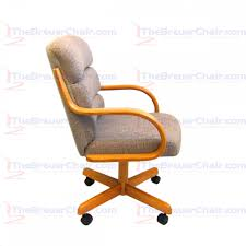 Swivel Tilt Dining Chairs by Caster Chair Company C138 Marcus Swivel Tilt Caster Arm Chair In