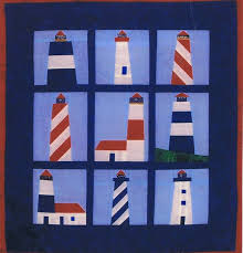 Nautical Quilt Lighthouses A Paper Pieced Pattern By Abc Patterns Paper