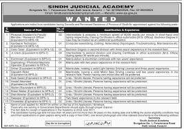 sindh judicial academy jobs 05 jun 2017