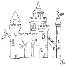 coloriage chateau disney