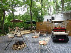 Camping In Backyard Ideas Deck Idea Seasonal Campsite Pinterest Rv Vacation Property