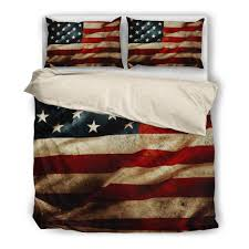 American Flag Bed Set Proud To Be An American Teeinterest