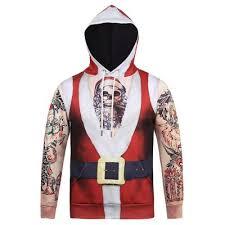 red unique christmas hoodie sweatshirt m 21 93 online shopping