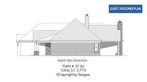 side elevation house plan 37 26 vtr house plans by garrell associates inc