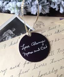 your loved one u0027s handwritten christmas ornament 2 personalized