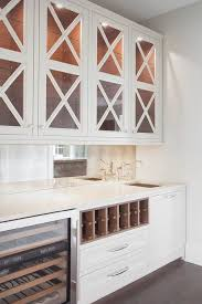Glass Shelves Kitchen Cabinets Dark Gray Butler Pantry Cabinets With Glass Shelves Transitional