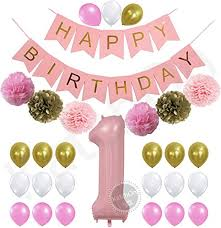 1st birthday girl 1st birthday girl decorations kit beautiful pastel colors for