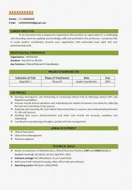 pharmacy resume format for fresher resume template example