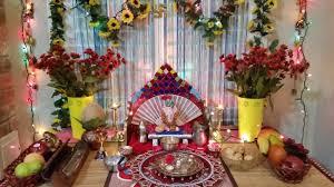 Flower Decoration At Home Desikalakar Ganpati Decoration 2014