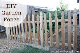 build an easy diy garden fence no 2 pencil