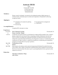 Sample Painter Resume by Commercial Painter Resume Sales Painter Lewesmr