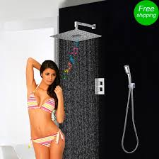 popular bluetooth thermostat buy cheap bluetooth thermostat lots shower set concealed 3 functions thermostatic mixer shower bath fm radio bluetooth shower head rainfall hand