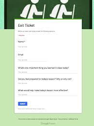 5 excellent google forms templates for teachers educational
