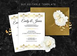 gatsby wedding invitations editable wedding invitation template great gatsby wedding