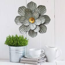 stratton home décor galvanized flower wall décor u2013 stratton home decor