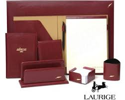 sous en cuir pour bureau ligne laurige collection royale prestige office