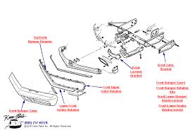 1978 corvette front bumper parts parts accessories for corvettes