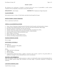 Life Insurance Agent Resume Ticket Agent Sample Resume