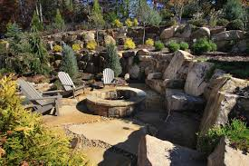 Simple Backyard Ideas Magnificent Bonfire Pit In Patio Contemporary With Front House