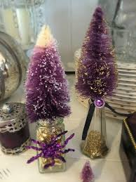 halloween bottle brush trees purple chocolat home