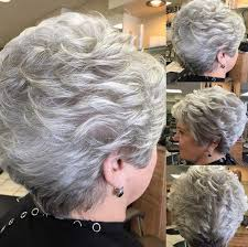 over sixties hair styled short straight mother gray hair wigs fashion heat resistant